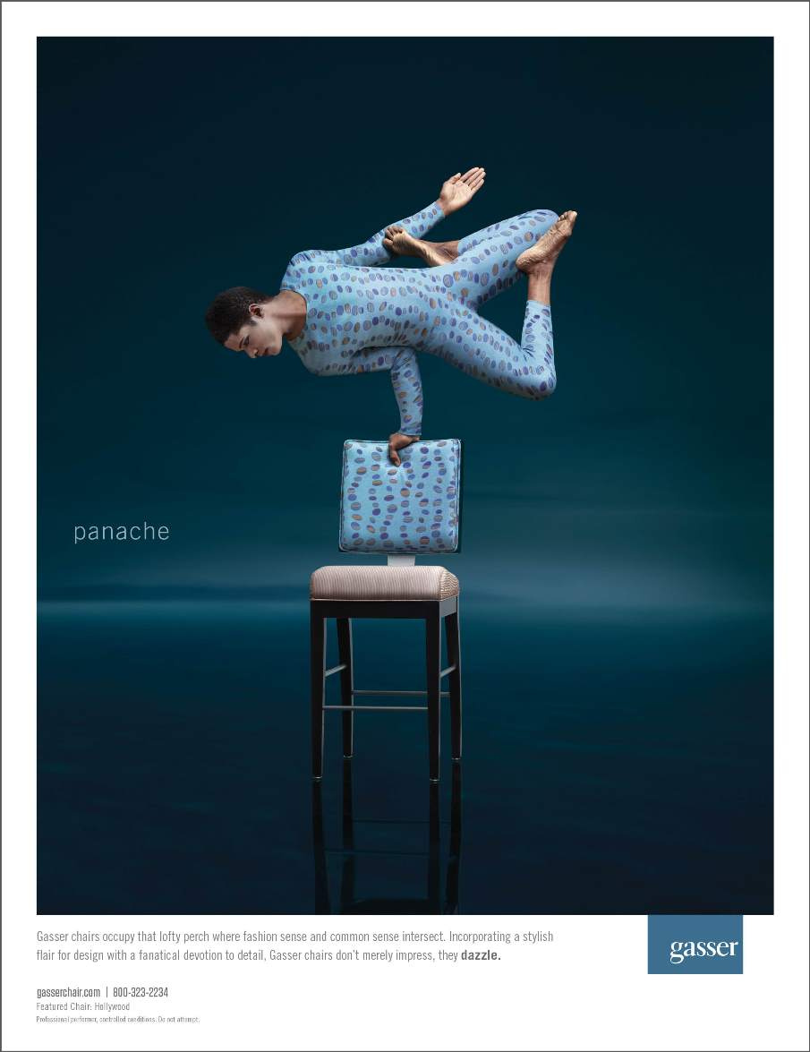 Gasser Chair Ad Blue Print