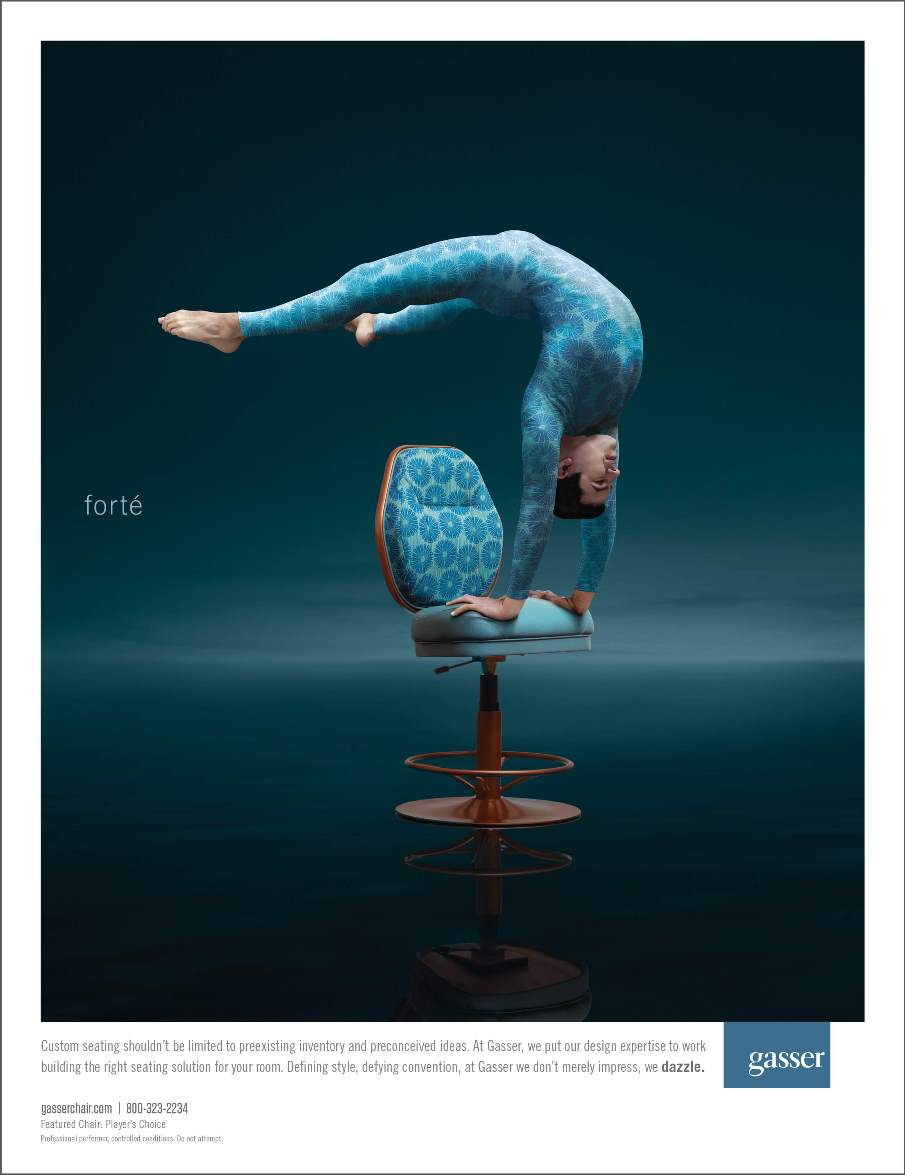 Gasser Chair Ad Blue