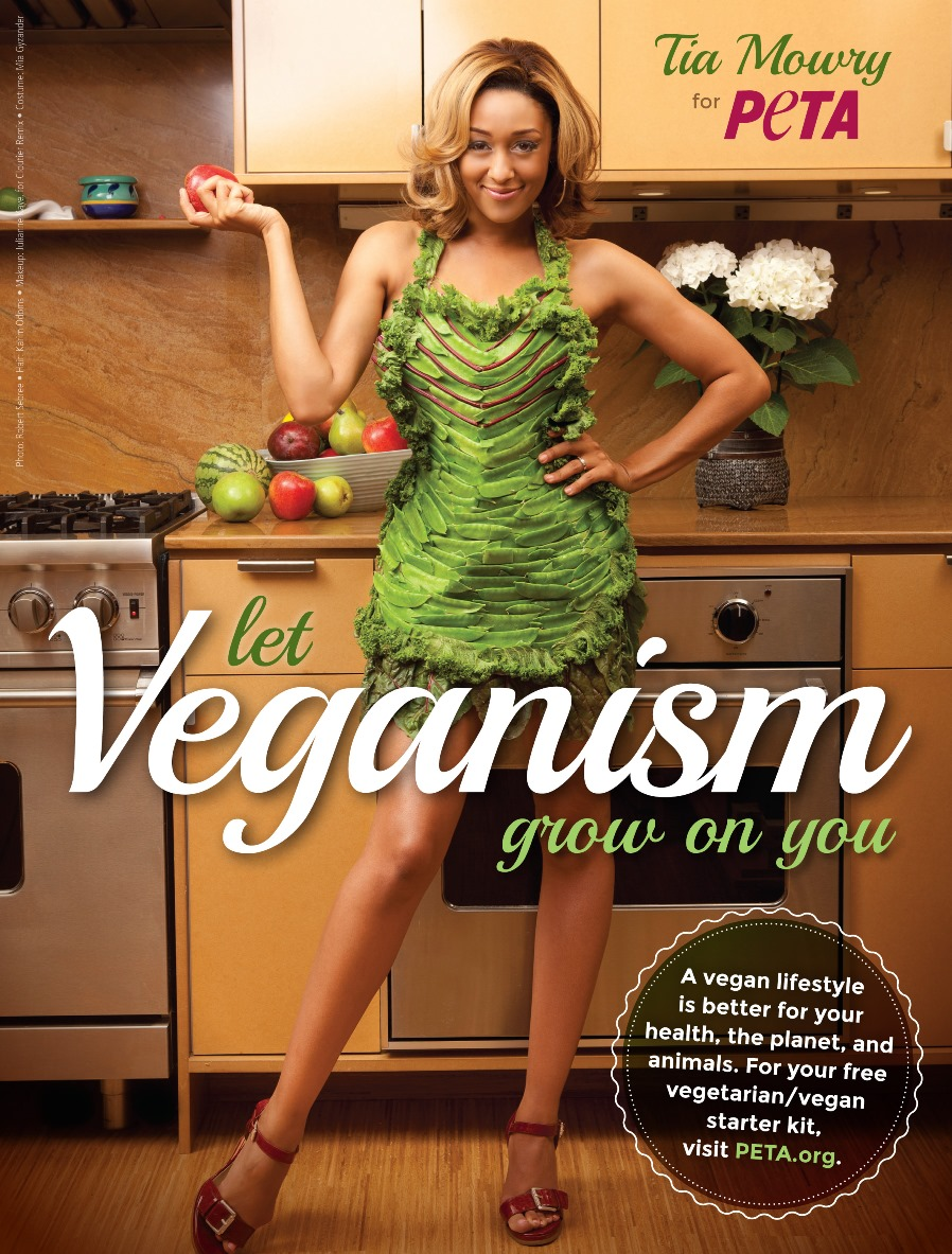 PETA Tia Mowry Vegan Lifestyle