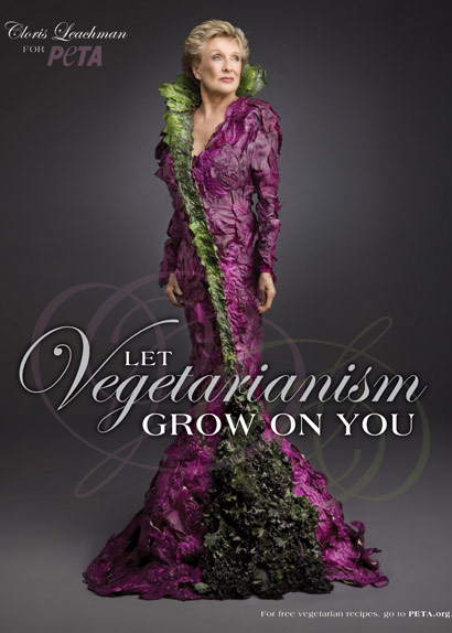 PETA Cloris Leachman Vegetable Dress