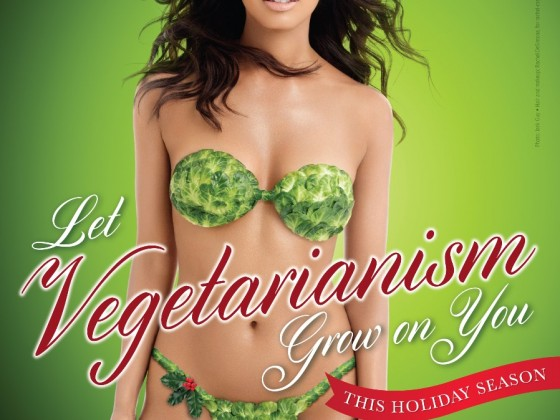 PETA Rocsi Diaz Vegetable Bikini