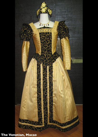 Venetian Womens Dress Gold